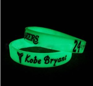 luminous rubber wristband - Kobe Bryant