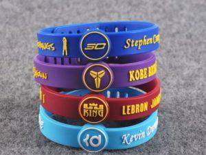 Kobe Bryant rubber adjustable bracelets