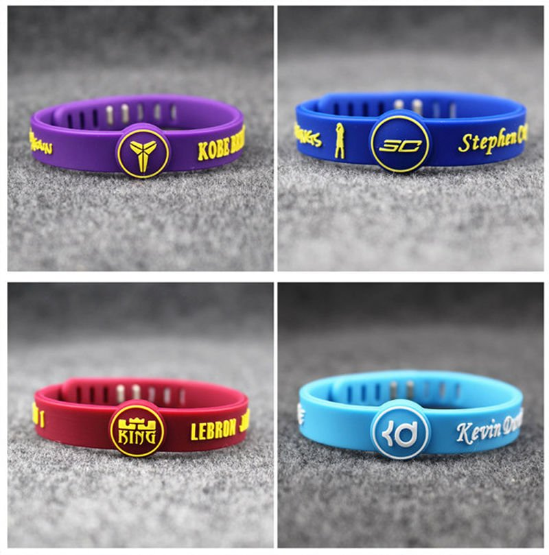 embossed Kobe Bryant Rubber Bands adjustable