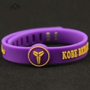 silicone wristband purple Kobe Bryant