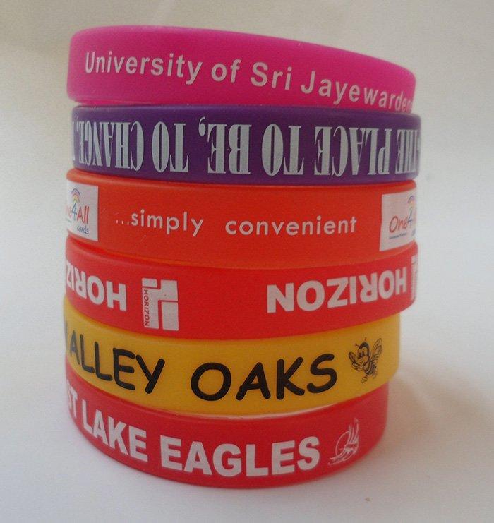 silicone awareness bracelets