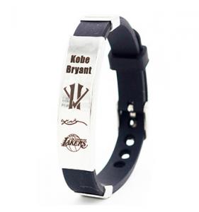 Kobe Bryant silicone wristband in black