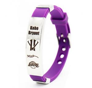 Kobe Bryant silicone wristband Purple