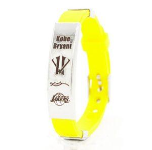 Kobe Bryant silicone wristband yellow